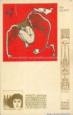 Litho Ver Sacrum # 1 Kolo Moser 1898