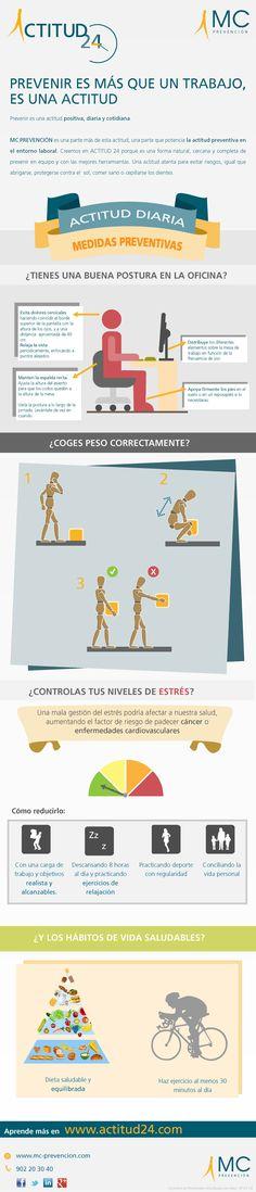Consejos Actitud 24. Prevención de riesgos laborales. Hábitos de vida saludables. Día Mundial de la Seguridad y Salud Laboral. www.actitud24.com www.mc-prevencion.com