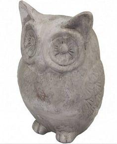 Okatá sova z kameniny