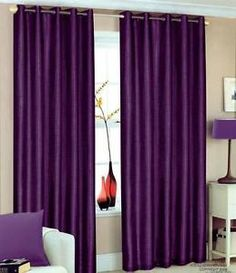 90 X Purple Faux Silk Curtains Eyelet Ring TOP Fully Lined INC Tiebacks