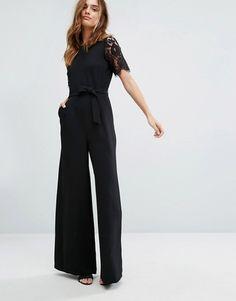 e3cf094ba1c Warehouse Lace Sleeve Jumpsuit