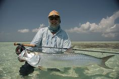 fly fishing giant tarpon | Helmut Alleze with the first of many Tarpon landed, jumped and cast at ...