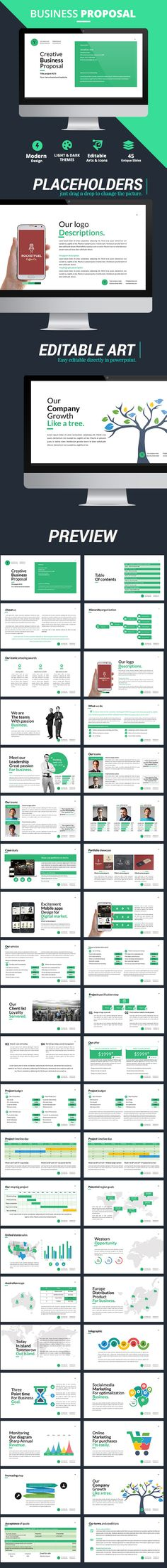 Business Proposal PowerPoint Presentation Template #design Download: http://graphicriver.net/item/business-proposal-presentation/12321309?ref=ksioks