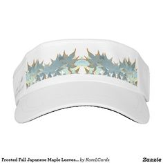 Frosted Fall Japanese Maple Leaves Garland Headsweats Visor