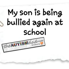 My son is being bullied again at school  It's been a couple of months since we've had any issues with this kid that's bullying Elliott at school. I thought we were past all this crap. In fact, I even stopped asking about it because every time I asked Elliott, there wasn't a single issue.   As Elliott was getting into the car...  #Autism #Parenting #Fatherhood #SpecialNeedsParenting #sensory #Dad  https://www.theautismdad.com/2017/01/19/my-son-is-being-bullied-ag