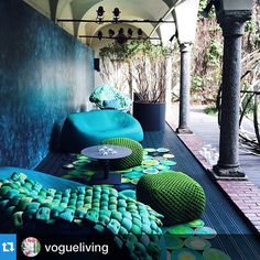 Mesmerised!! My favourite colours in slippy, organic shapes #Repost @vogueliving with @repostapp.