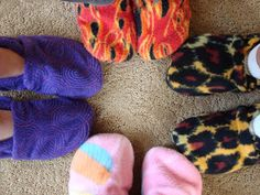 Fleece Slipper Tutorial