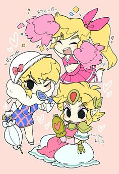 The Legend of Zelda: Triforce Heroes, Link in the most feminine outfits