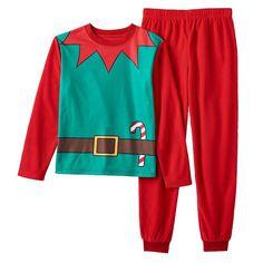 Kids 4-16 Elf Suit Family Pajamas Set, Kids Unisex, Size:
