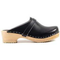 Clogs Sandgrens Swedish Clogs Shoes Wooden Clogs Sandals Clog Swedish... (200 CAD) ❤ liked on Polyvore featuring shoes, clogs, black, clogs & mules, women's shoes, clog shoes, wood clogs, mules clogs, black pointy shoes and black shoes