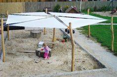 Solsejl opstilling - 6-kantet Varenr. Q1074 Trekantede polyestersejl 4x4x4m. Ø 870 cm Stolper leveres ubehandlet. Se hele vores udvalg af #solsejl på Nikostine.dk