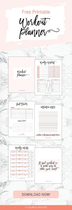 Workout Schedule Template Someone, please make me! Pinterest
