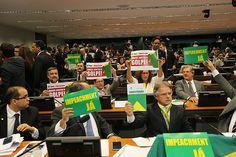 Sessão da comissão especial que discute o pedido de impeachment de Dilma Rousseff