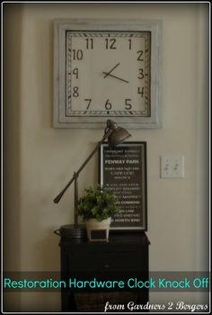 "Restoration Hardware  Ballard Designs ""Quad"" Clock Knock Off (tutorial)"