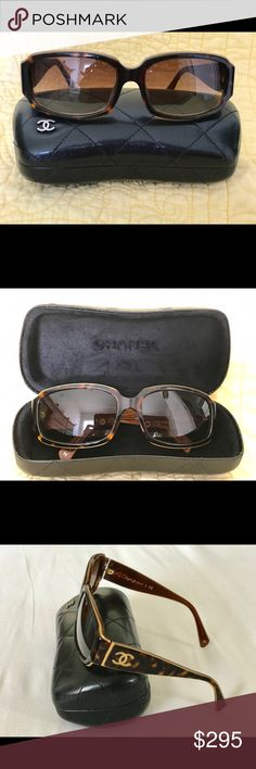 CHANEL SUNGLASSES 100% AUTHENTIC CHANEL DARK HAVANA FRAME SUNGLASSES. BROWN GRADIENT LENS. No scratches, excellent condition. CHANEL Accessories Sunglasses