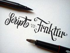 Script vs. Fraktur by Joachim Vu