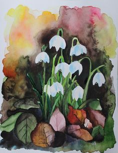 Inspiration für Bilder Printable Watercolor Water, Watercolor Paintings, Waterfall Paintings, Lino Cuts, Watercolours, Spring Flowers, Places To Visit, Collage, Scrapbook
