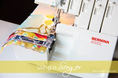 Using a Serger… getting acquainted with using one. www.makeit-loveit.com