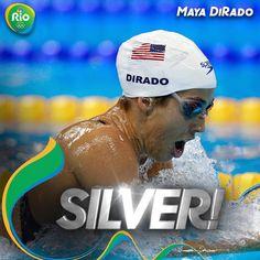 08.06.16  Silver for USA's Maya DiRado in the 400m IM! #Rio2016