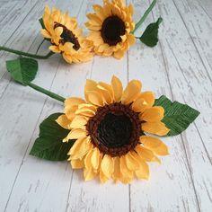 Paper sunflowers bouquet Floral arrangement Bridesmaids paper | Etsy Paper Sunflowers, Paper Flower Art, Sunflower Bouquets, Paper Bouquet, Yellow Paper, Crepe Paper, Different Colors, Floral Arrangements, Bridesmaids