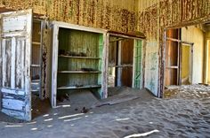 23: Namibia trip: desert sand taking over abandoned house in ...