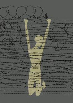 End inhumanity. Campaign for Amnesty International. Tags: Ogilvy & Mather, Frankfurt am Main Ogilvy Mather, Social Environment, Amnesty International, Print Magazine, Frankfurt, Human Rights, Cover Design, Illustrators, Banner