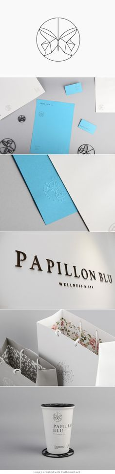 Unique Brand Identity Design on the Internet, Papillon Blu Wellness Spa #branding #brandidentity #identitydesign #design http://www.pinterest.com/aldenchong/design/