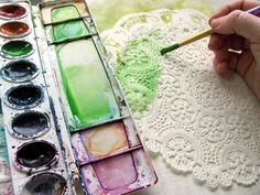 watercolors - the perfect entry point for paint into scrapbooking! I gotta try this!