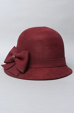 2693163543935 The Lily Cloche Hat in Antique Red by deLux