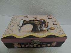 caixa de costura decorada - Pesquisa Google