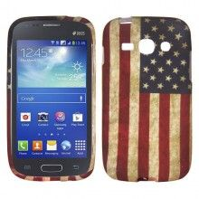Capa Galaxy Ace 3 - Gel Bandeira USA  R$21,25