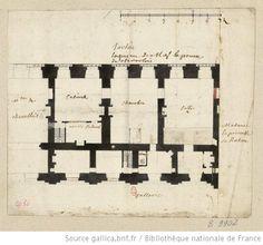 [Versailles, château : plan du logement de M. le Prince] : [dessin] . Looks like a corner of the Aile du Midi.
