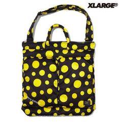New! XLARGE × PORTER × YAYOI KUSAMA 2WAY HELMET BAG Japan Dot Yellow Rare F/S #Asian