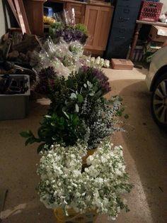 Flowers ready for wedding work
