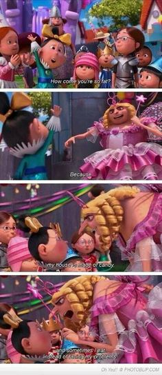 Despicable me 2 ~ haha, no little kid would understand this!