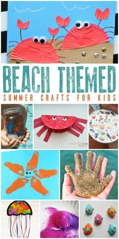 Summer Beach Themed Crafts for Kids Shells critters sand and memories these beach themed crafts for kids are fun to dive into this summer to get creative on those long hot days. The post Summer Beach Themed Crafts for Kids appeared first on Summer Diy. Summer Crafts For Kids, Summer Activities For Kids, Crafts For Kids To Make, Craft Activities, Projects For Kids, Art For Kids, Craft Projects, Summer Kids, Beach Activities