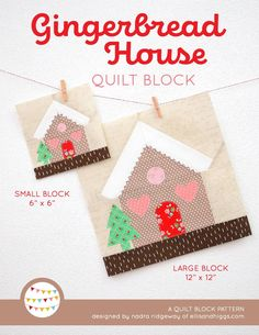 Gingerbread Forest Christmas Mini Quilt Tutorial - a free pattern add-on by Nadra Ridgeway of ellis & higgs. In this tutorial I'm showing you how to make this adorabel Christmas mini quilt. Click here for more infos! This is a free pattern add-on for my Gingerbread House & Christmas Tree quilt patterns. Each pattern contains diagramed step-by-step instructions for the single blocks & requirements for a lap quilt & mini quilt. Patchwork, quilting, DIY, Holiday crafts