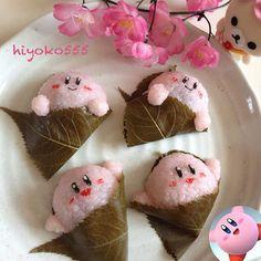 Hoshi no Kirby sakura mochi    #food #bento