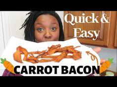 CARROT BACON: DOES IT REALLY TASTE LIKE BACON??   Melissa Reviews - YouTube Vegan Recipes, Snack Recipes, Snacks, Bacon Meat, Pescatarian Recipes, Meat And Cheese, Air Fryer Recipes, Nut Free, Carrots