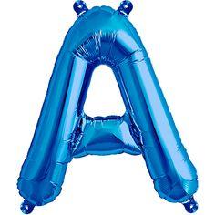 Skriv HAPPY NEW YEAR med de fine 41 cm balloner, pustes KUN o med luft! Flot og billig løsning. Hænges fra loftet, sættes på pinde eller klistres på væggen. Blå Bogstav A Luft Folie Ballon 40 cm. - Single