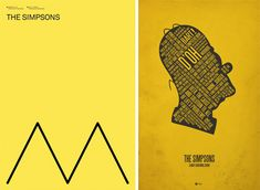 Movie Poster Minimalism: 41 Stripped-Down Examples //  Minimalist artists often see how bare-bones they can go and still convey the message. A few lines from Bart Simpson's hair, and you have a poster. The fact that such minor details are so readily recognizable are great testaments to the power of the Simpsons' brand.