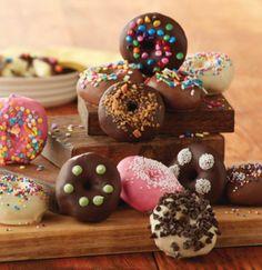 Chocolate Dipped Mini Donuts