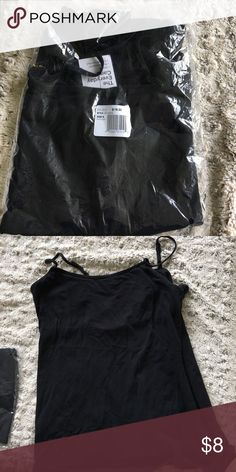 Adjustable strap tank top. By Sonoma. New Just double strap tank top. By Sonoma. Brand-new in the dark. Color black. Size extra large. 96% spandex 4% cotton. Sonoma Tops Tank Tops