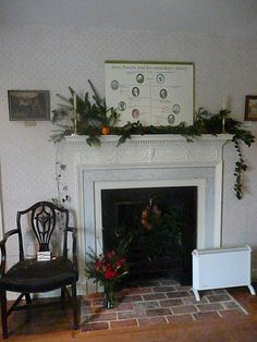 The drawing-room fireplace is decked with boughs of evergreens, ivy and yew. English Christmas, Christmas Is Over, Before Christmas, Jane Austen, Complicated Love, Christmas Calendar, Mr Darcy, Drawing Room, Winchester