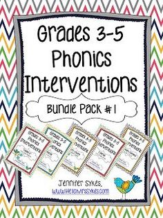 Phonics Interventions Bundle with Lesson Plans, Activities, Practice Sheets