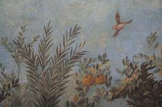 Roman fresco detail with bird in flight, Villa of Livia, Prima Porta by raggi di sole, via Flickr