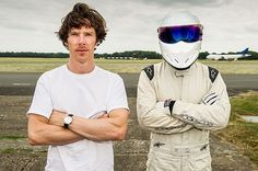 Benedict Cumberbatch and The Stig on Top Gear.