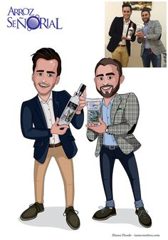 Caricatura de los dueños de la empresa Arroz Señorial de Cullera.