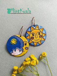 Cherry Earrings, Bird Earrings, Moon Earrings, Copper Earrings, Copper Jewelry, Butter Shrimp, Garlic Butter, Handmade Jewelry, Unique Jewelry