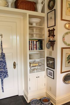Shelves around door - Mary Carol Garrity Spring Home Tour 2012.